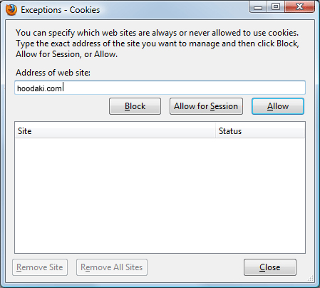 Enabling Cookies in Mozilla Firefox 3.5