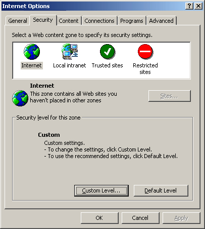 Enabling Cookies in Internet Explorer 5.0/5.5